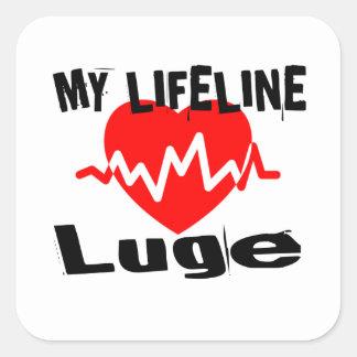 My Life Line Luge Sports Designs Square Sticker