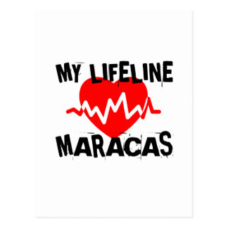 MY LIFE LINE MARACAS MUSIC DESIGNS POSTCARD