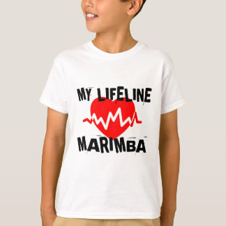 MY LIFE LINE MARIMBA MUSIC DESIGNS T-Shirt