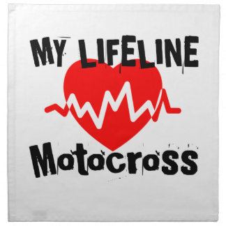 My Life Line Motocross Sports Designs Napkin