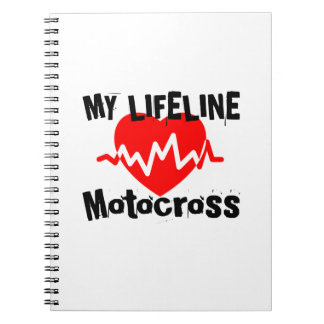 My Life Line Motocross Sports Designs Spiral Notebook