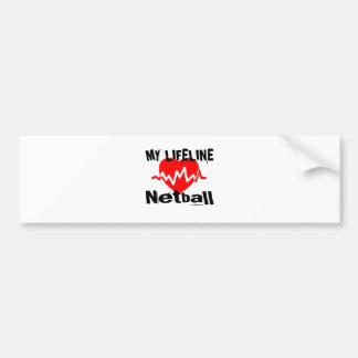 My Life Line Netball Sports Designs Bumper Sticker