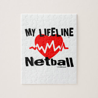 My Life Line Netball Sports Designs Jigsaw Puzzle