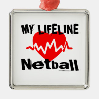My Life Line Netball Sports Designs Metal Ornament