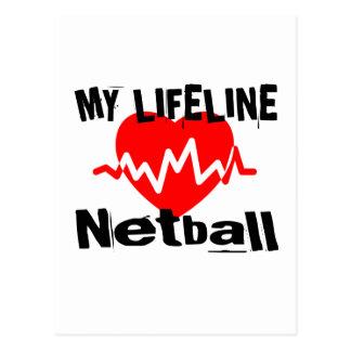 My Life Line Netball Sports Designs Postcard