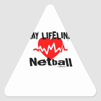 My Life Line Netball Sports Designs Triangle Sticker