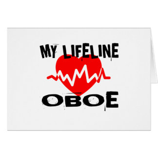 MY LIFE LINE OBOE MUSIC DESIGNS CARD
