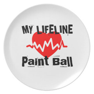 My Life Line Paint Ball Sports Designs Plate