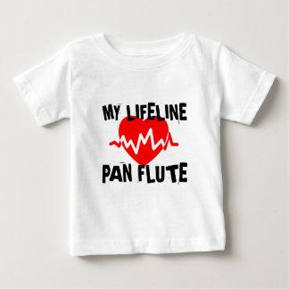 MY LIFE LINE PAN FLUTE MUSIC DESIGNS BABY T-Shirt