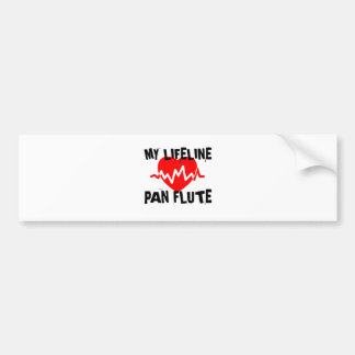 MY LIFE LINE PAN FLUTE MUSIC DESIGNS BUMPER STICKER