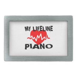 MY LIFE LINE PIANO MUSIC DESIGNS BELT BUCKLES