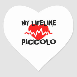 MY LIFE LINE PICCOLO MUSIC DESIGNS HEART STICKER