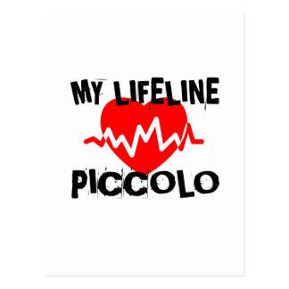 MY LIFE LINE PICCOLO MUSIC DESIGNS POSTCARD