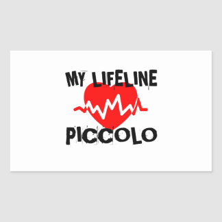 MY LIFE LINE PICCOLO MUSIC DESIGNS RECTANGULAR STICKER
