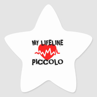 MY LIFE LINE PICCOLO MUSIC DESIGNS STAR STICKER