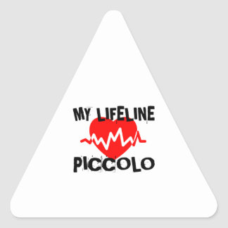 MY LIFE LINE PICCOLO MUSIC DESIGNS TRIANGLE STICKER