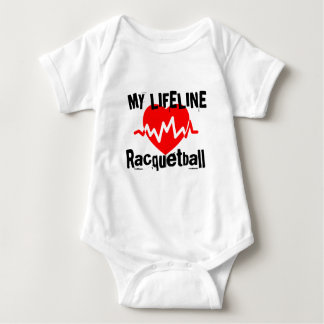 My Life Line Racquetball Sports Designs Baby Bodysuit