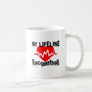 My Life Line Racquetball Sports Designs Coffee Mug