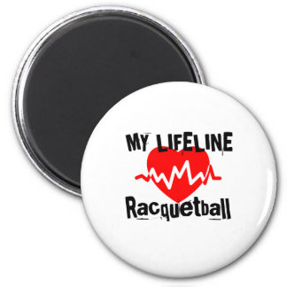 My Life Line Racquetball Sports Designs Magnet