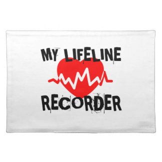 MY LIFE LINE RECORDER MUSIC DESIGNS PLACEMAT