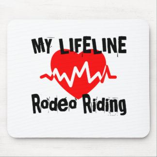 My Life Line Rodeo Riding Sports Designs Mouse Pad