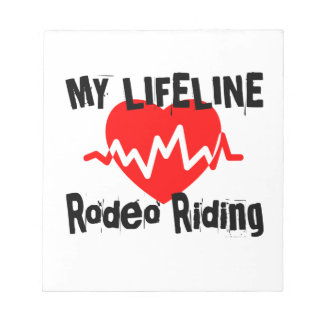 My Life Line Rodeo Riding Sports Designs Notepad