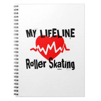 My Life Line Roller Skating Sports Designs Spiral Notebook