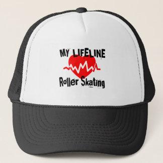 My Life Line Roller Skating Sports Designs Trucker Hat