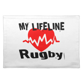 My Life Line Rugby Sports Designs Placemat