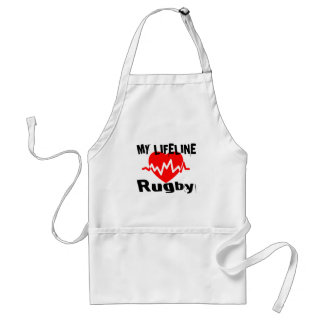 My Life Line Rugby Sports Designs Standard Apron