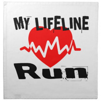 My Life Line Run Sports Designs Napkin