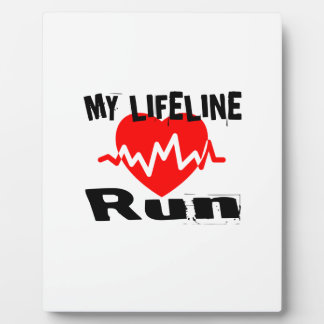 My Life Line Run Sports Designs Plaque