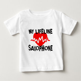 MY LIFE LINE SAXOPHONE MUSIC DESIGNS BABY T-Shirt
