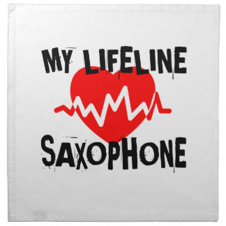MY LIFE LINE SAXOPHONE MUSIC DESIGNS NAPKIN