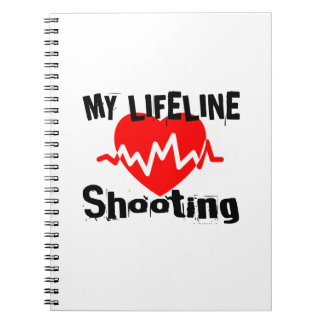 My Life Line Shooting Sports Designs Spiral Notebook