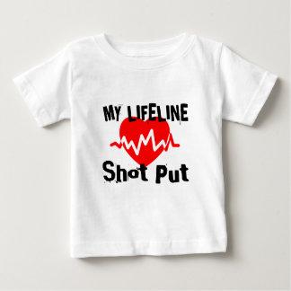 My Life Line Shot Put Sports Designs Baby T-Shirt