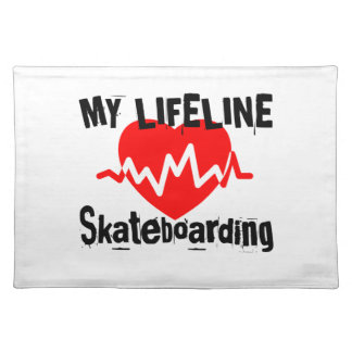 My Life Line Skateboarding Sports Designs Placemat