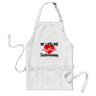 My Life Line Skateboarding Sports Designs Standard Apron