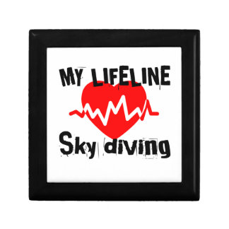 My Life Line Sky diving Sports Designs Gift Box