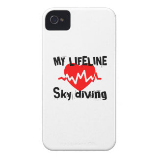 My Life Line Sky diving Sports Designs iPhone 4 Covers