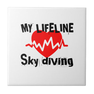 My Life Line Sky diving Sports Designs Tile