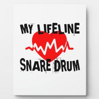 MY LIFE LINE SNARE DRUM MUSIC DESIGNS PLAQUE
