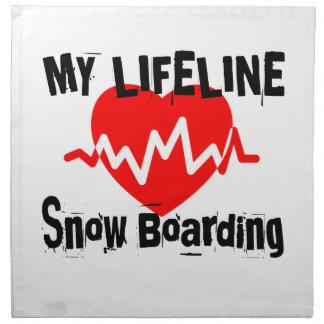 My Life Line Snow Boarding Sports Designs Napkin