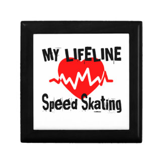 My Life Line Speed Skating Sports Designs Gift Box