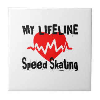My Life Line Speed Skating Sports Designs Tile