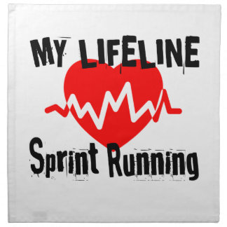 My Life Line Sprint Running Sports Designs Napkin