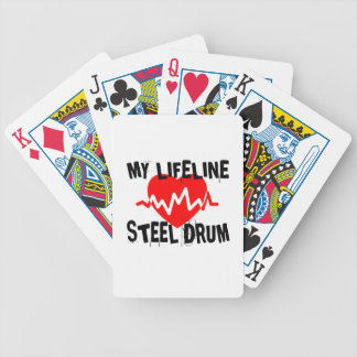 MY LIFE LINE STEEL DRUM MUSIC DESIGNS BICYCLE PLAYING CARDS