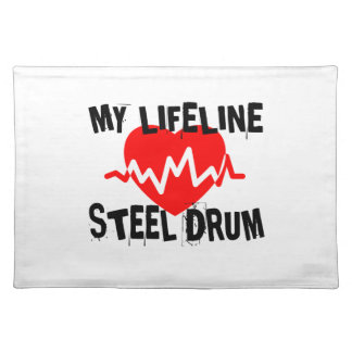 MY LIFE LINE STEEL DRUM MUSIC DESIGNS PLACEMAT