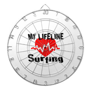My Life Line Surfing Sports Designs Dartboard