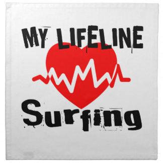 My Life Line Surfing Sports Designs Napkin